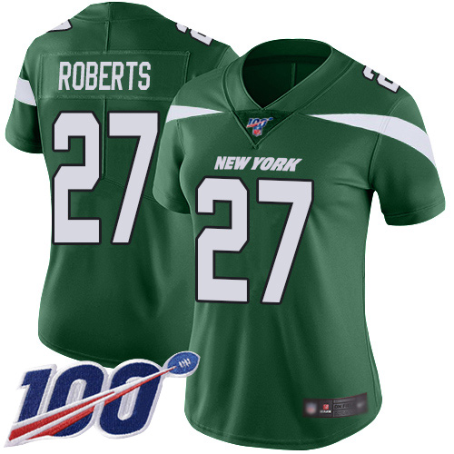 New York Jets Limited Green Women Darryl Roberts Home Jersey NFL Football 27 100th Season Vapor Untouchable
