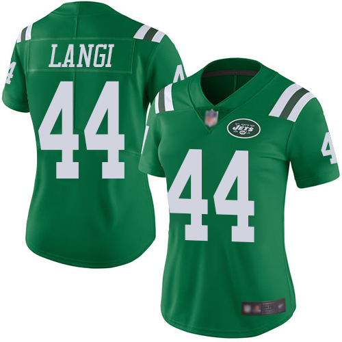 New York Jets Limited Green Women Harvey Langi Jersey NFL Football 44 Rush Vapor Untouchable