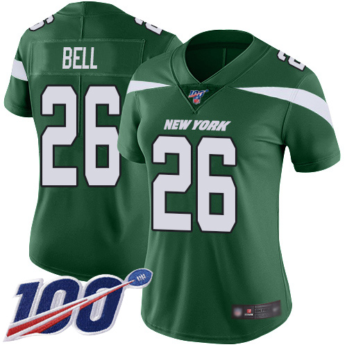 New York Jets Limited Green Women LeVeon Bell Home Jersey NFL Football 26 100th Season Vapor Untouchable