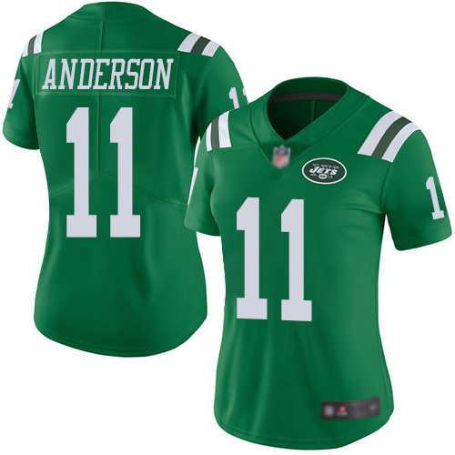 New York Jets Limited Green Women Robby Anderson Jersey NFL Football 11 Rush Vapor Untouchable