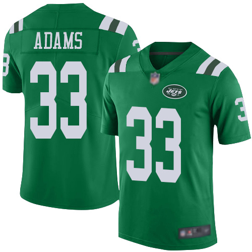 New York Jets Limited Green Youth Jamal Adams Jersey NFL Football 33 Rush Vapor Untouchable