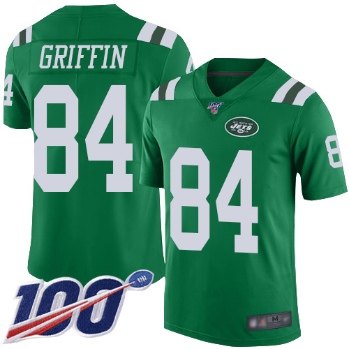 New York Jets Limited Green Youth Ryan Griffin Jersey NFL Football 84 100th Season Rush Vapor Untouchable