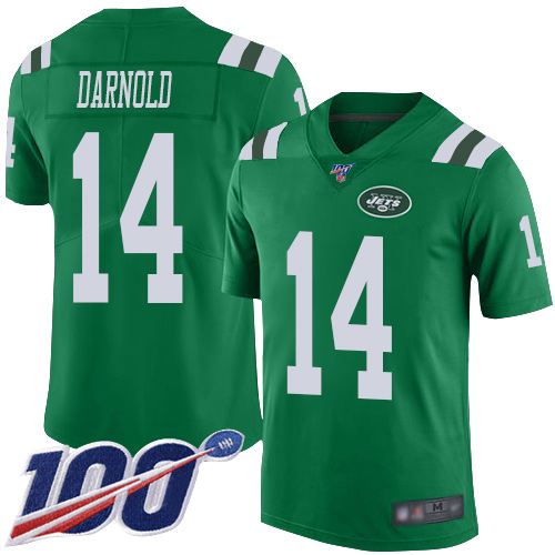 New York Jets Limited Green Youth Sam Darnold Jersey NFL Football 14 100th Season Rush Vapor Untouchable