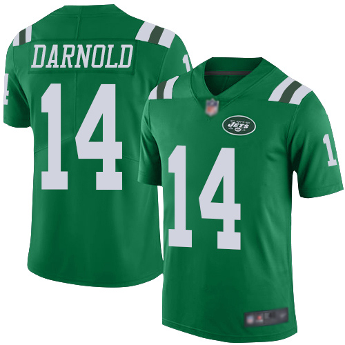 New York Jets Limited Green Youth Sam Darnold Jersey NFL Football 14 Rush Vapor Untouchable