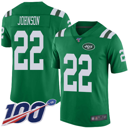 New York Jets Limited Green Youth Trumaine Johnson Jersey NFL Football 22 100th Season Rush Vapor Untouchable