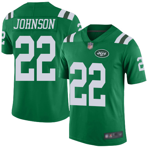 New York Jets Limited Green Youth Trumaine Johnson Jersey NFL Football 22 Rush Vapor Untouchable
