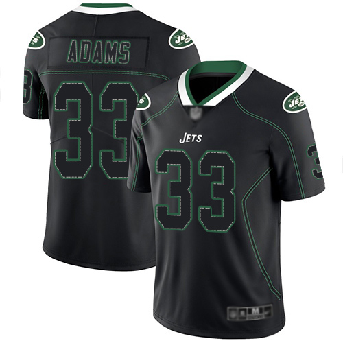 New York Jets Limited Lights Out Black Men Jamal Adams Jersey NFL Football 33 Rush