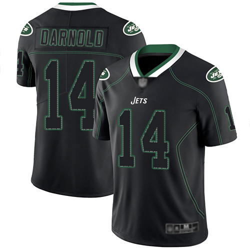 New York Jets Limited Lights Out Black Men Sam Darnold Jersey NFL Football 14 Rush