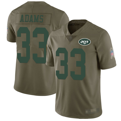 New York Jets Limited Olive Men Jamal Adams Jersey NFL Football 33 2017 Salute to Service