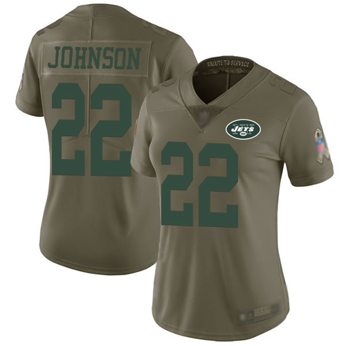 New York Jets Limited Olive Women Trumaine Johnson Jersey NFL Football 22 2017 Salute to Service
