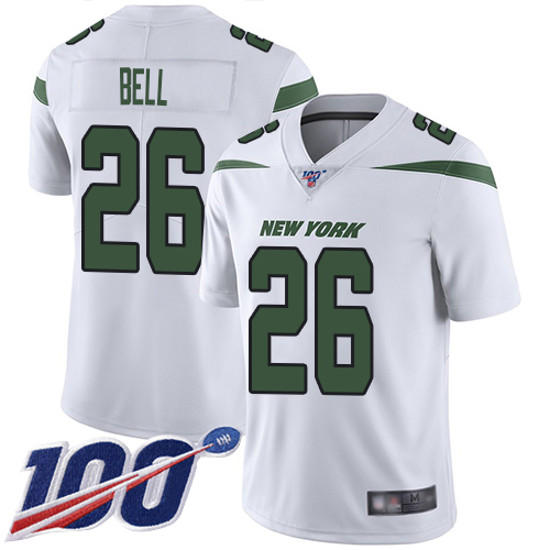 New York Jets Limited White Men LeVeon Bell Road Jersey NFL Football 26 100th Season Vapor Untouchable