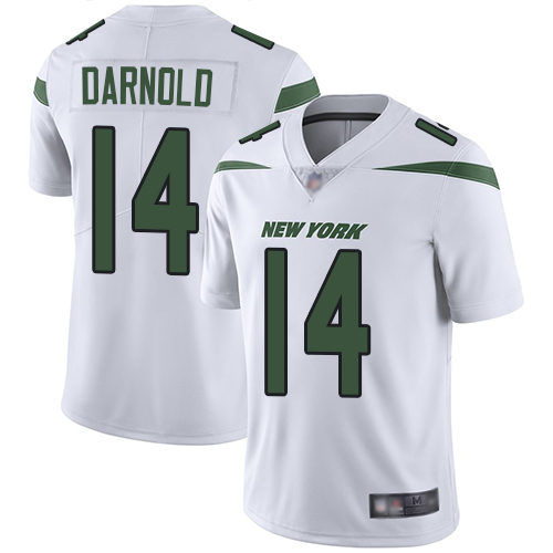 New York Jets Limited White Men Sam Darnold Road Jersey NFL Football 14 Vapor Untouchable