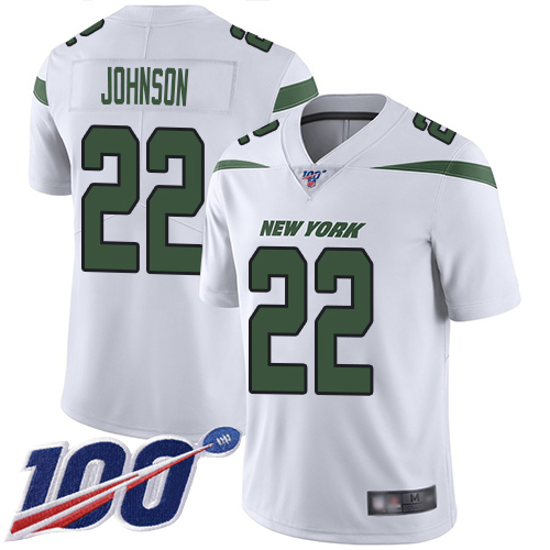 New York Jets Limited White Men Trumaine Johnson Road Jersey NFL Football 22 100th Season Vapor Untouchable