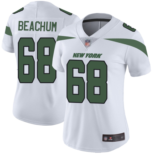 New York Jets Limited White Women Kelvin Beachum Road Jersey NFL Football 68 Vapor Untouchable