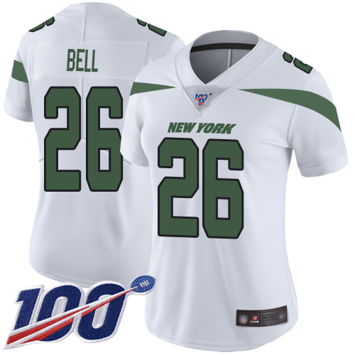 New York Jets Limited White Women LeVeon Bell Road Jersey NFL Football 26 100th Season Vapor Untouchable