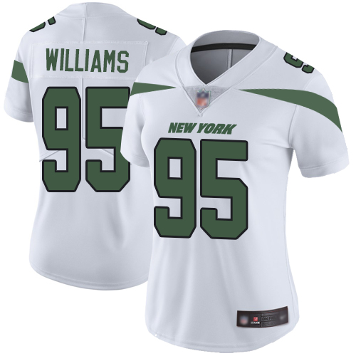 New York Jets Limited White Women Quinnen Williams Road Jersey NFL Football 95 Vapor Untouchable