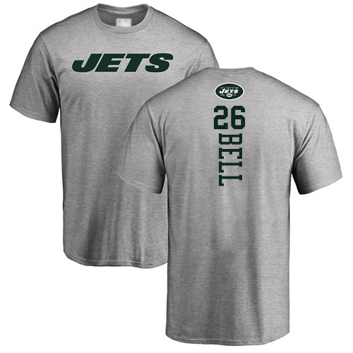New York Jets Men Ash LeVeon Bell Backer NFL Football 26 T Shirt