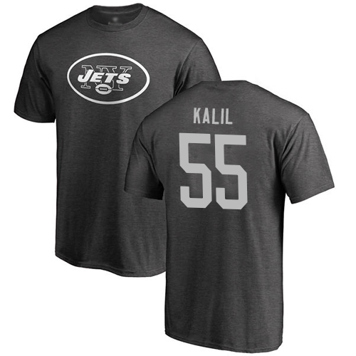 New York Jets Men Ash Ryan Kalil One Color NFL Football 55 T Shirt