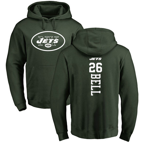 New York Jets Men Green LeVeon Bell Backer NFL Football 26 Pullover Hoodie Sweatshirts