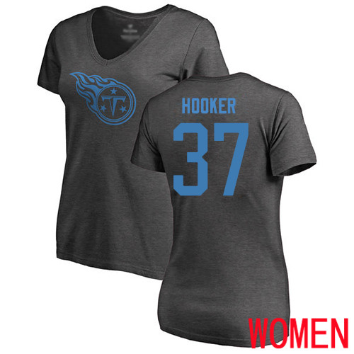 Tennessee Titans Ash Women Amani Hooker One Color NFL Football 37 T Shirt