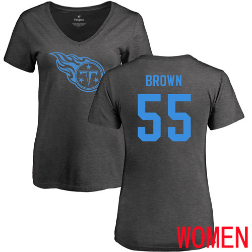 Tennessee Titans Ash Women Jayon Brown One Color NFL Football 55 T Shirt