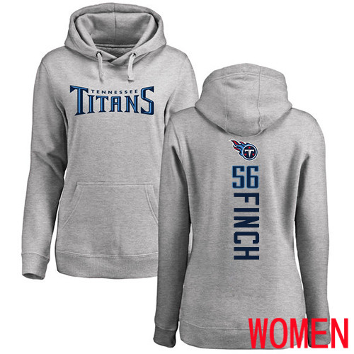 Tennessee Titans Ash Women Sharif Finch Backer NFL Football 56 Pullover Hoodie Sweatshirts