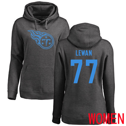 Tennessee Titans Ash Women Taylor Lewan One Color NFL Football 77 Pullover Hoodie Sweatshirts