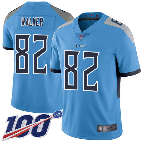 Tennessee Titans Limited Light Blue Men Delanie Walker Alternate Jersey NFL Football 82 100th Season Vapor Untouchable