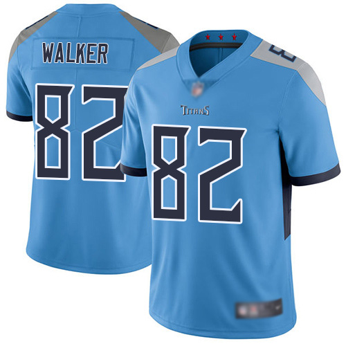 Tennessee Titans Limited Light Blue Men Delanie Walker Alternate Jersey NFL Football 82 Vapor Untouchable