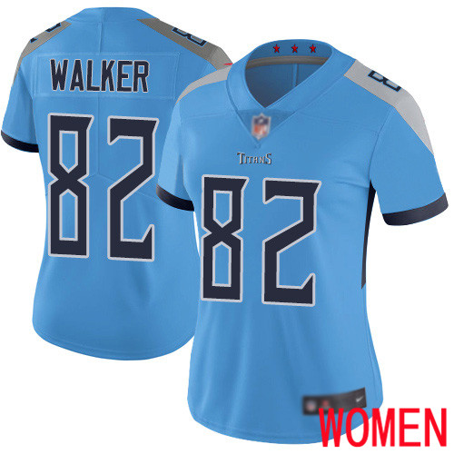 Tennessee Titans Limited Light Blue Women Delanie Walker Alternate Jersey NFL Football 82 Vapor Untouchable