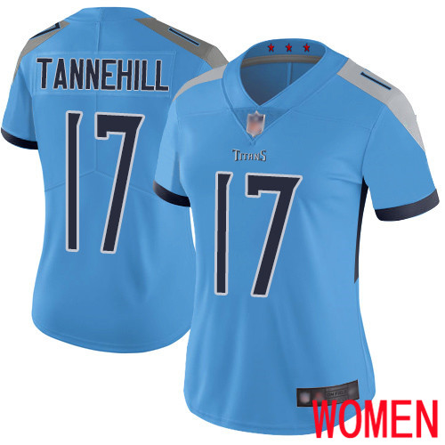 Tennessee Titans Limited Light Blue Women Ryan Tannehill Alternate Jersey NFL Football 17 Vapor Untouchable