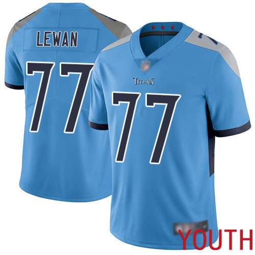 Tennessee Titans Limited Light Blue Youth Taylor Lewan Alternate Jersey NFL Football 77 Vapor Untouchable