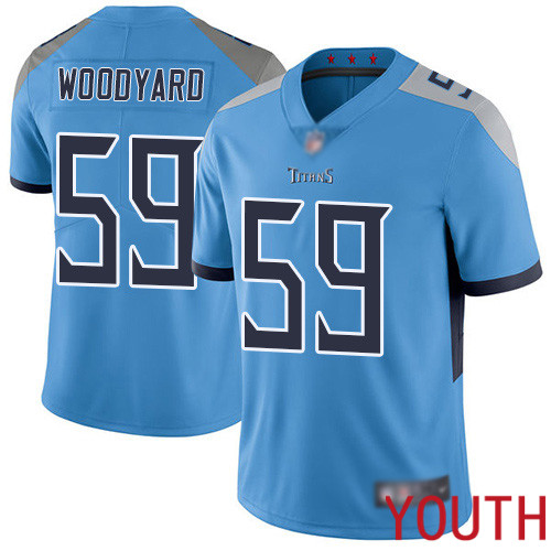 Tennessee Titans Limited Light Blue Youth Wesley Woodyard Alternate Jersey NFL Football 59 Vapor Untouchable