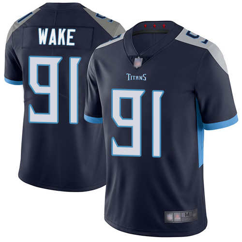 Tennessee Titans Limited Navy Blue Men Cameron Wake Home Jersey NFL Football 91 Vapor Untouchable
