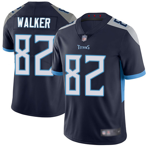 Tennessee Titans Limited Navy Blue Men Delanie Walker Home Jersey NFL Football 82 Vapor Untouchable