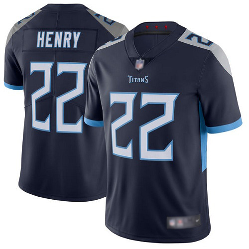 Tennessee Titans Limited Navy Blue Men Derrick Henry Home Jersey NFL Football 22 Vapor Untouchable
