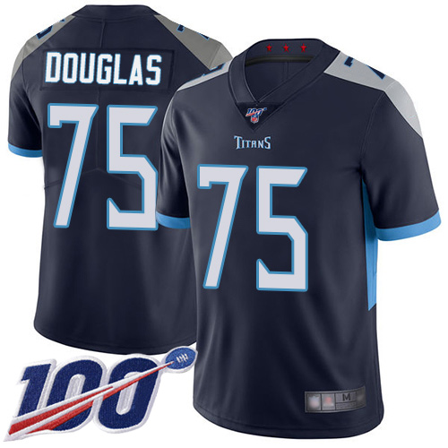 Tennessee Titans Limited Navy Blue Men Jamil Douglas Home Jersey NFL Football 75 100th Season Vapor Untouchable