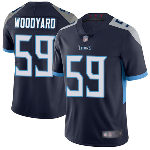 Tennessee Titans Limited Navy Blue Men Wesley Woodyard Home Jersey NFL Football 59 Vapor Untouchable