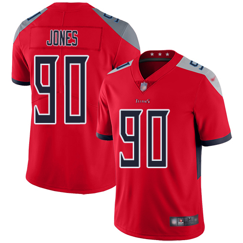 Tennessee Titans Limited Red Men DaQuan Jones Jersey NFL Football 90 Inverted Legend