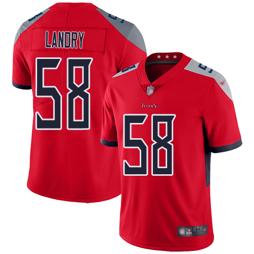 Tennessee Titans Limited Red Men Harold Landry Jersey NFL Football 58 Inverted Legend