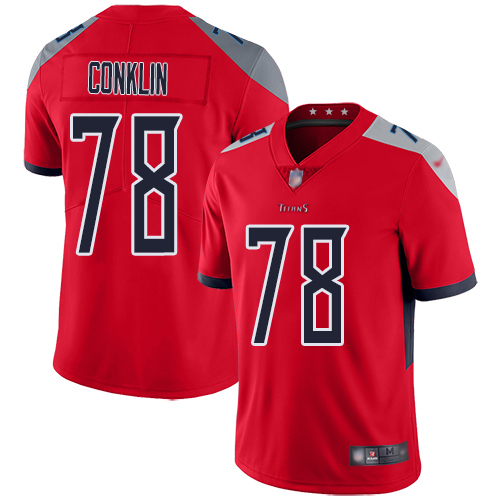 Tennessee Titans Limited Red Men Jack Conklin Jersey NFL Football 78 Inverted Legend