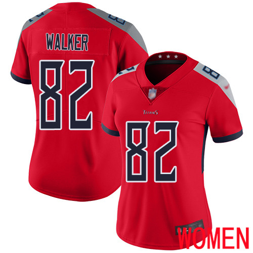 Tennessee Titans Limited Red Women Delanie Walker Jersey NFL Football 82 Inverted Legend