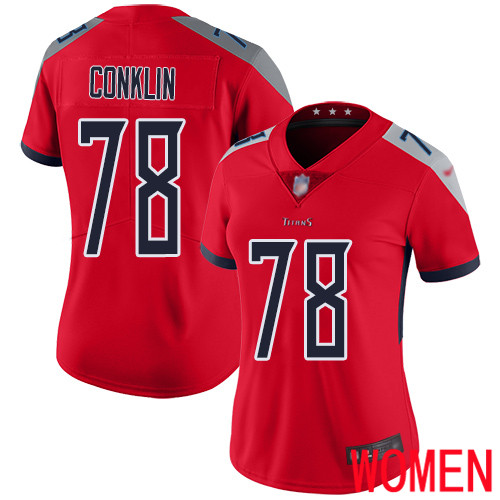 Tennessee Titans Limited Red Women Jack Conklin Jersey NFL Football 78 Inverted Legend