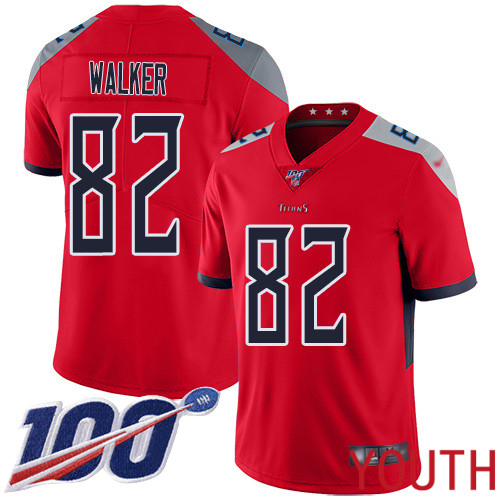 Tennessee Titans Limited Red Youth Delanie Walker Jersey NFL Football 82 100th Season Inverted Legend