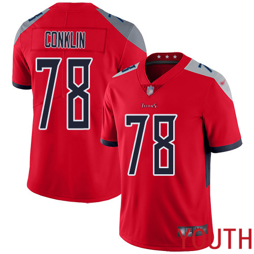 Tennessee Titans Limited Red Youth Jack Conklin Jersey NFL Football 78 Inverted Legend