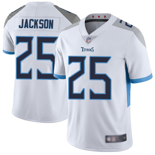 Tennessee Titans Limited White Men Adoree Jackson Road Jersey NFL Football 25 Vapor Untouchable