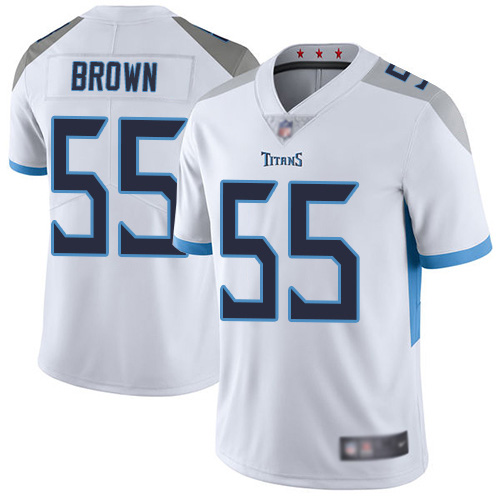 Tennessee Titans Limited White Men Jayon Brown Road Jersey NFL Football 55 Vapor Untouchable
