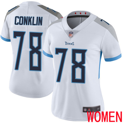 Tennessee Titans Limited White Women Jack Conklin Road Jersey NFL Football 78 Vapor Untouchable