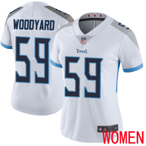 Tennessee Titans Limited White Women Wesley Woodyard Road Jersey NFL Football 59 Vapor Untouchable