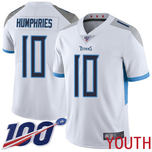 Tennessee Titans Limited White Youth Adam Humphries Road Jersey NFL Football 10 100th Season Vapor Untouchable